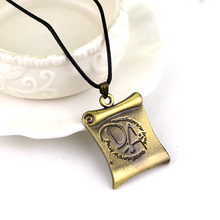 New Arrivals Wizard School Dumbledores Army DA Logo Scroll Unisex Cosplay Necklace For Gift