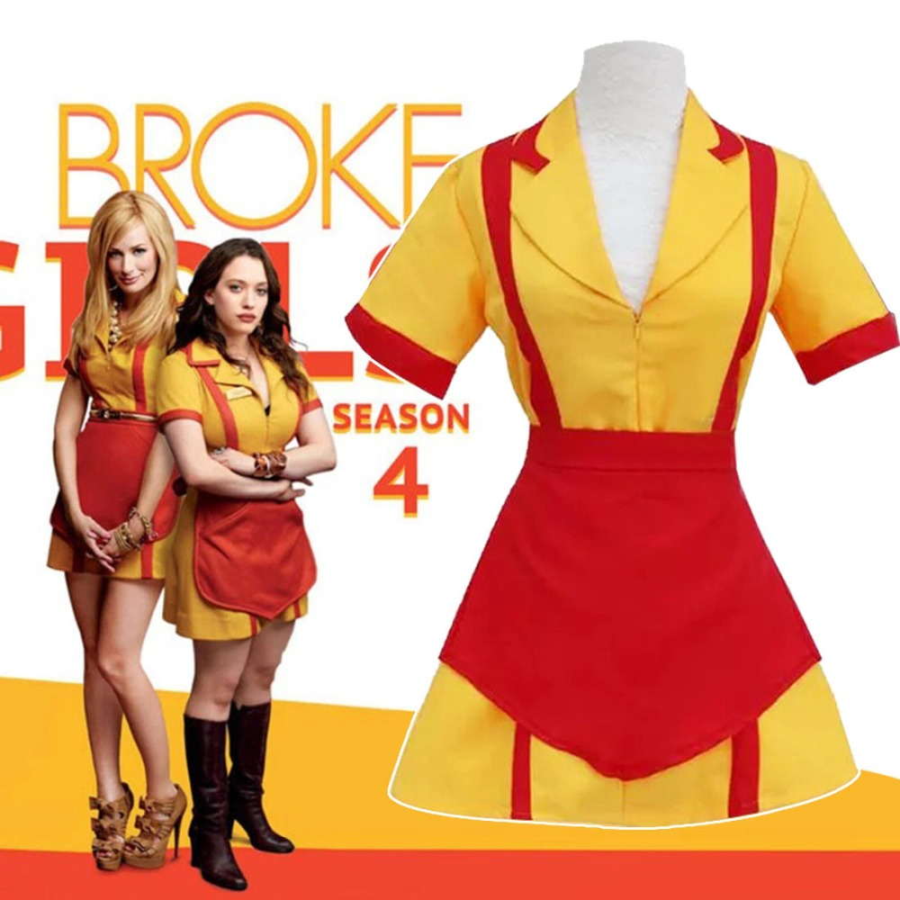 hot american tv series 2 broke girls cosplay costume black max
