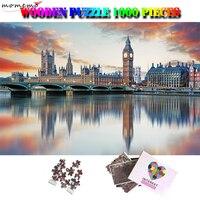 MOMEMO Linda Londres Puzzles 1000 Peças Puzzle De Madeira Adultos Trainer Cérebro Puzzle Mundialmente Famosa Paisagem Brinquedos Puzzle