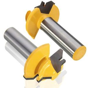 Image 3 - Peu de défonceuse à tige, 8mm, 1/4, Anti rebondissement, 45 degrés, 1/2 pouce, fraise à tige pour outils de menuiserie couteau à bois 1 pièce