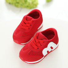 2018 New autumn children canvas shoes girls and boys sport shoes antislip soft bottom kids shoes comfortable breathable sneakers(China)
