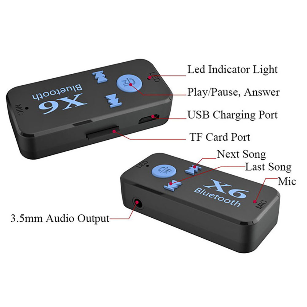 Image 3 - Bluetooth Adapter 3 in 1 Wireless 4.0 USB Bluetooth Receiver 3.5mm AUX Audio Jack Stereo TF   Card Reader MIC Call For Car Speak-in USB Bluetooth Adapters/Dongles from Computer & Office