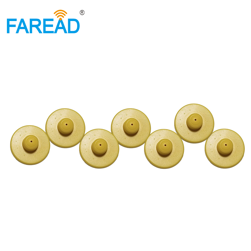 X10pcs ISO18000-6C UHF 860-960MHz RFID Button Ear Tag For Pig ,sheep,cow Electronic Ear Mark Visual Tag