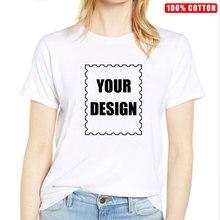 Plus Size 100% Cotton T Shirt Women Custom Unisex Make Your Design Logo Text Printed Original High Quality Tshirt
