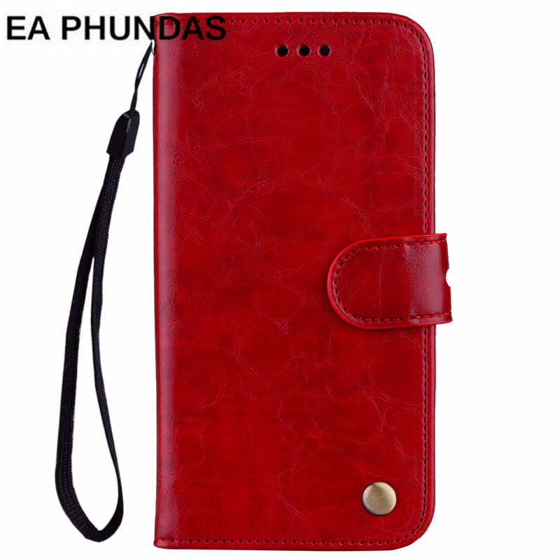 Oil wax PU leather Cover For iPhones 5 7 6 6S 8 Plus X Phone Case Kickstand Vintage Leather+soft silicone Fundas wallet Coque