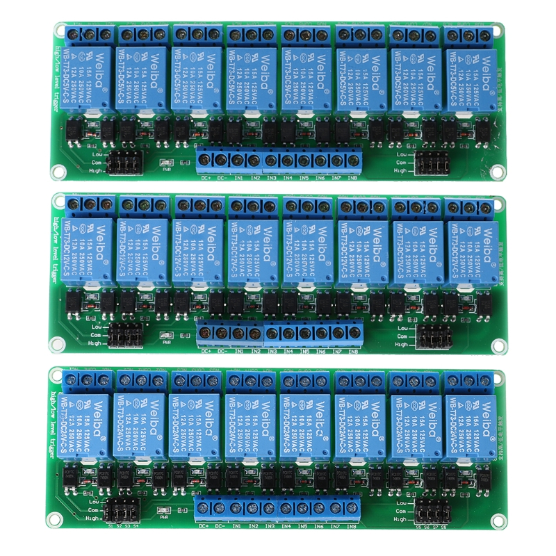 8 Channel Relay Module High And Low Level Trigger Relay Control With Optocoupler #0604