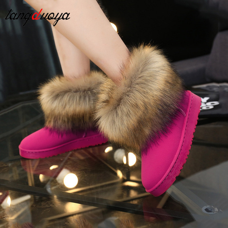 Women Winter Boots Snow Boots Women Winter Shoes Low Heel Shoes For Ladies Ankle Boots For Women Snow Shoes Zapatos De Mujer