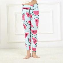 02def89784d520 Girls 4-10 Y Spring Ankle Length 3D Digital Print Watermelons Pattern  Leggings Pants High Waist Elastic Sports Yoga Trousers