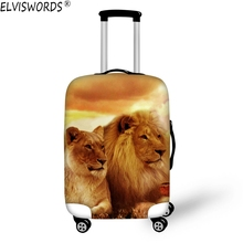 ELVISWORDS Stilvolle Zoo Animal Print Schutzhülle Gepäck Decken Elastischen 18-30 zoll Trolley Reise-koffer Abdeckung mit Reißverschluss Einzelhandel