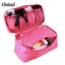 d2523b4d678b2 OUTAD Hot Travel Organizer For Cosmetics Bag Women Zipper Makeup Bag Bra  Underwear Waterproof Portable Organizer