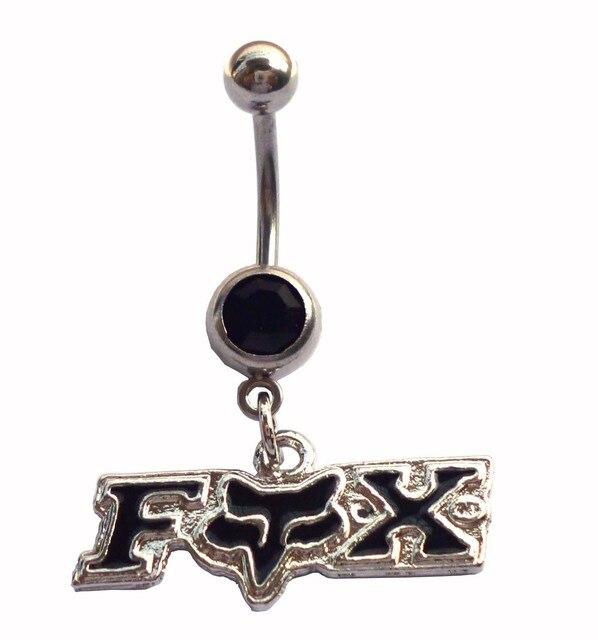 Fox body piercing jewelry  stainless steel (2PC/lot) Dangle fox Belly Button rings