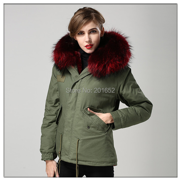winter jacket women army green long sleeve fur jacket female plus size faux fur mr fur jacket