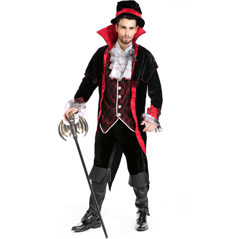 Contemplative New Men's Vampire King Earl's Costume Halloween Cosplay Costume Exported Europe And America Game Wear Magic Show L18817109 Agreeable Sweetness