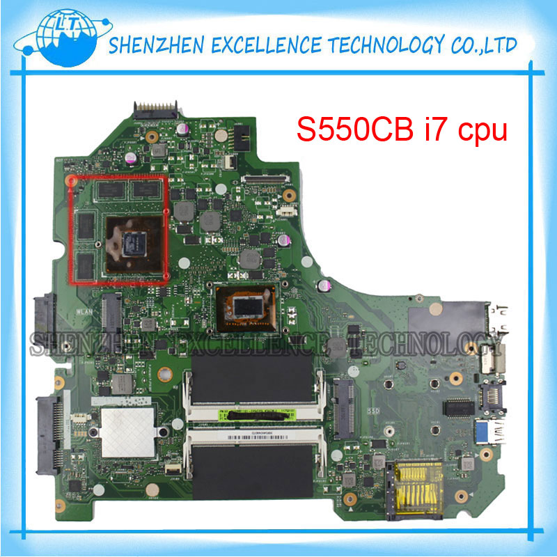 S550CB for ASUS Laptop Motherboard with Intel I7 CPU HM76 chip processor i7-3537 GeForce GT740M mainboard 100% Tested new n56jr laptop motherboard for asus with i7 cpu with high quality