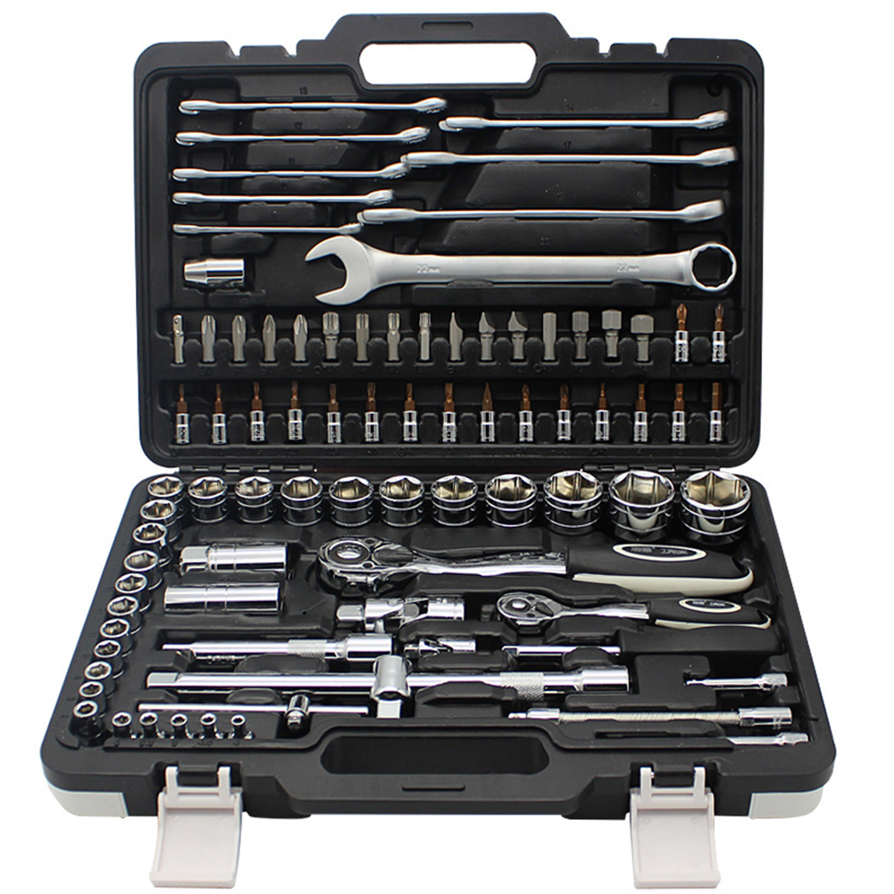 86pcs Tool for Car Repair Ratchet Set of Keys for Car Repair Tool Box with Tools