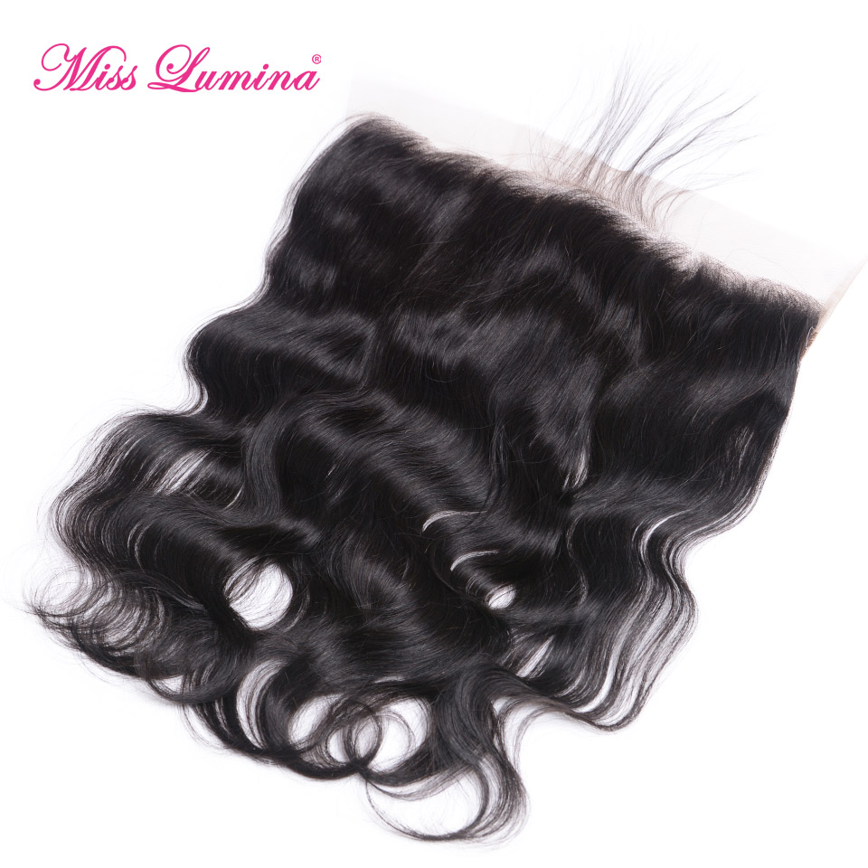 Where to buy hair closures - Miss Lumina 13x4 Pre Plucked Lace Frontal Brazilian Body Wave Frontal With Baby Hair Natural Color Remy Human Hair Closure