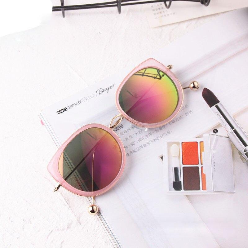 Sunglasses Mother & Kids New Arrival Kids Sunglasses Reflective Lens Gold Pearl Leg Lovely Boy&girl Cool Sun Glasses Vintage Brand Designer Eyewear N295