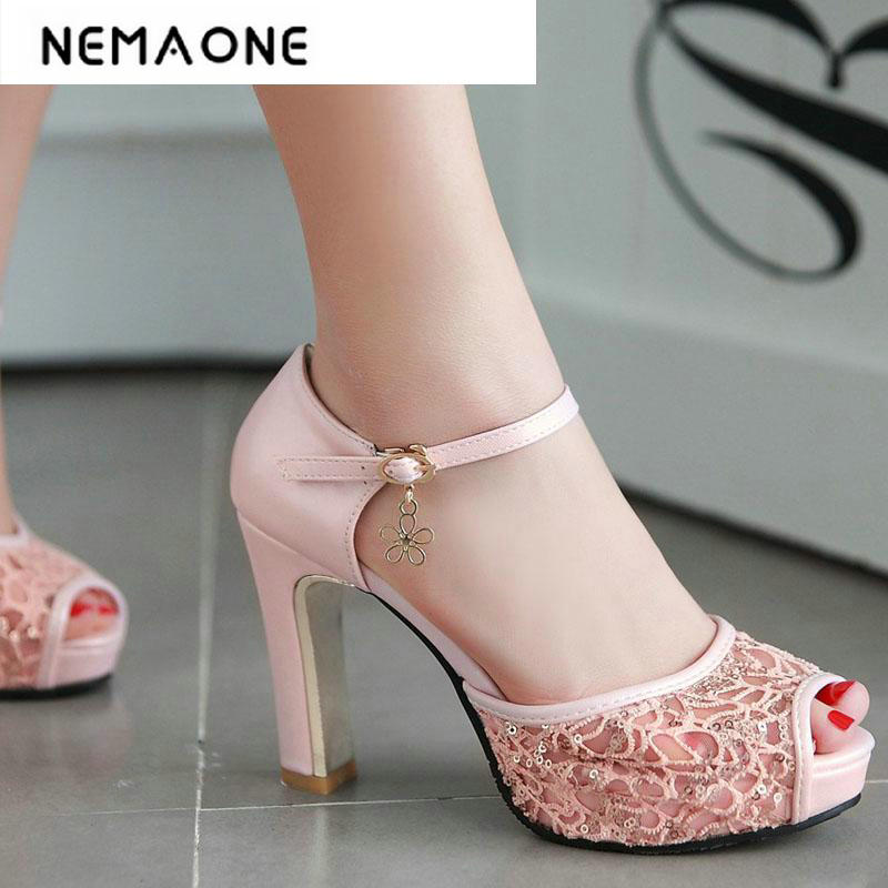 Fashion Spring/Summer Style Lace Peep Toe High Heels Women sandals High Heel Shoes women party Wedding Shoes Woman super bright car headlights led h15 canbus auto front bulb automobile waterproof headlamp 6000k car lighting