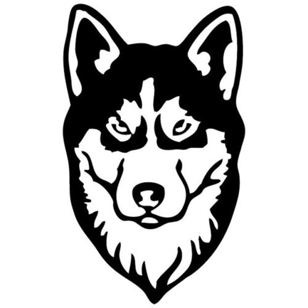 Free Shipping 8 Colors Siberian Husky Car Sticker For