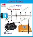 CONJUNTO COMPLETO Display LCD GSM 900 Mhz Mobile Phone Signal Booster GSM980, GSM Repetidor de Sinal, Amplificador de sinal + Antena Yagi + Cabo