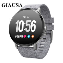 GIAUSA V11 Smart watch IP67 waterproof Tempered glass Activity Fitness tracker Heart rate monitor BRIM Men women smartwatch