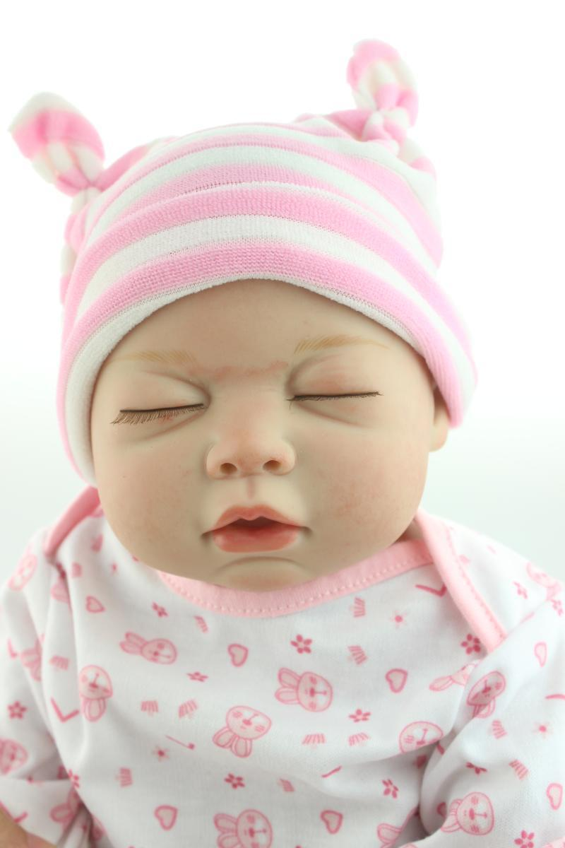 Silicone Reborn Baby Doll Lifelike Accompany Sleeping Girl