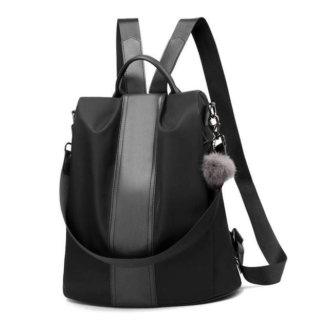 Femmes sac à dos sac à main étanche Anti-vol sac à dos léger école sac à bandoulière noir