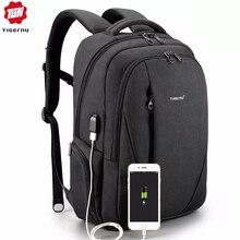 Рюкзак Tigernu мужской, водонепроницаемый, с защитой от кражи, с usb разъемом, 15,6 дюйма, для ноутбука и путешествий