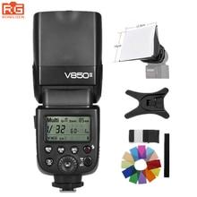 Godox V850 V850II GN60 вспышка Speedlight w/Перезаряжаемые литий-ионный Батарея для Nikon Canon Olympus Pentax различные OPT