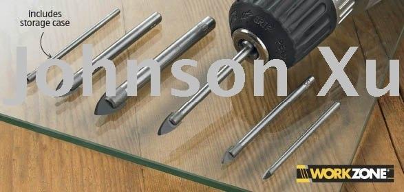Set 6 pezzi Kit di punte per trapano per taglio vetro e piastrelle garantito al 100%