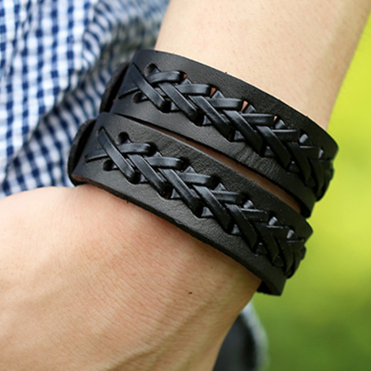 combines two brace item the monkey throw with gentlemen men kilimall easy of funk lace bit leather bracelet s in wrench a detail black wear casual