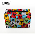 FORUDESIGNS 2016 Hot 3D Printing Cosmetic Bag Women Makeup Bags Large Capacity Trave Cosmetic Bags Purse Pouch Zipper