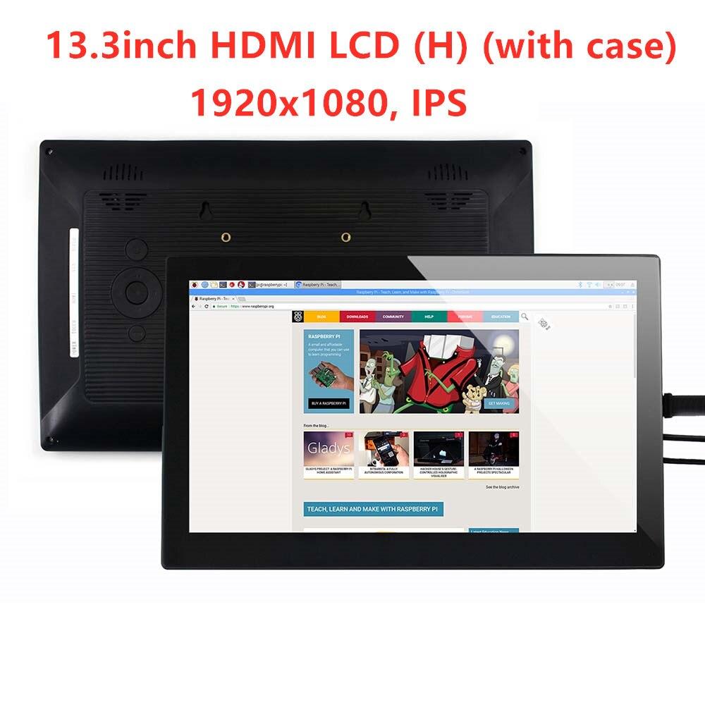Waveshare 13,3 дюймов, ips, 1920x1080, емкостный Сенсорный экран с прочное защитное стекло, вход VGA, Поддержка Win10/8,1/8/7, WIN10 IOT,