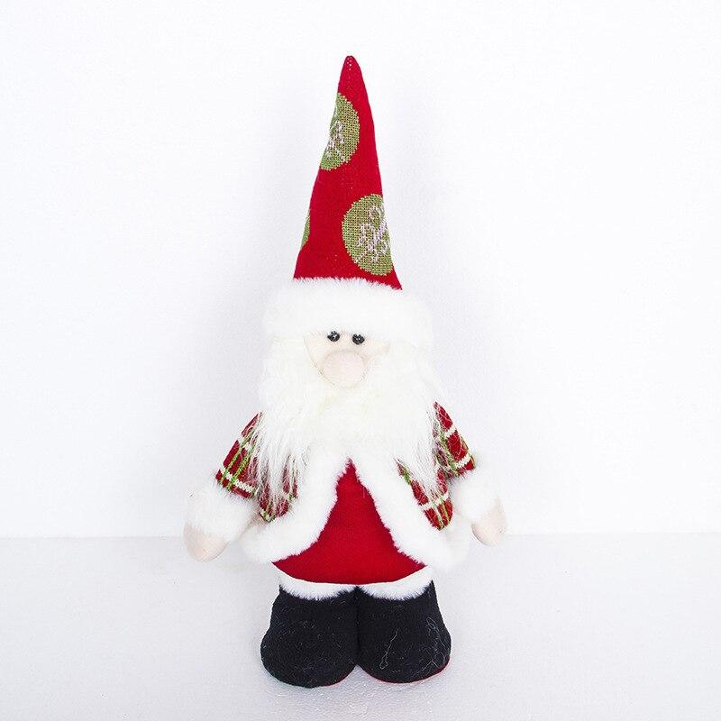 Noël haut pied en peluche jouet décoration de noël rétractable poupée Santa bonhomme de neige poupée 020 Y