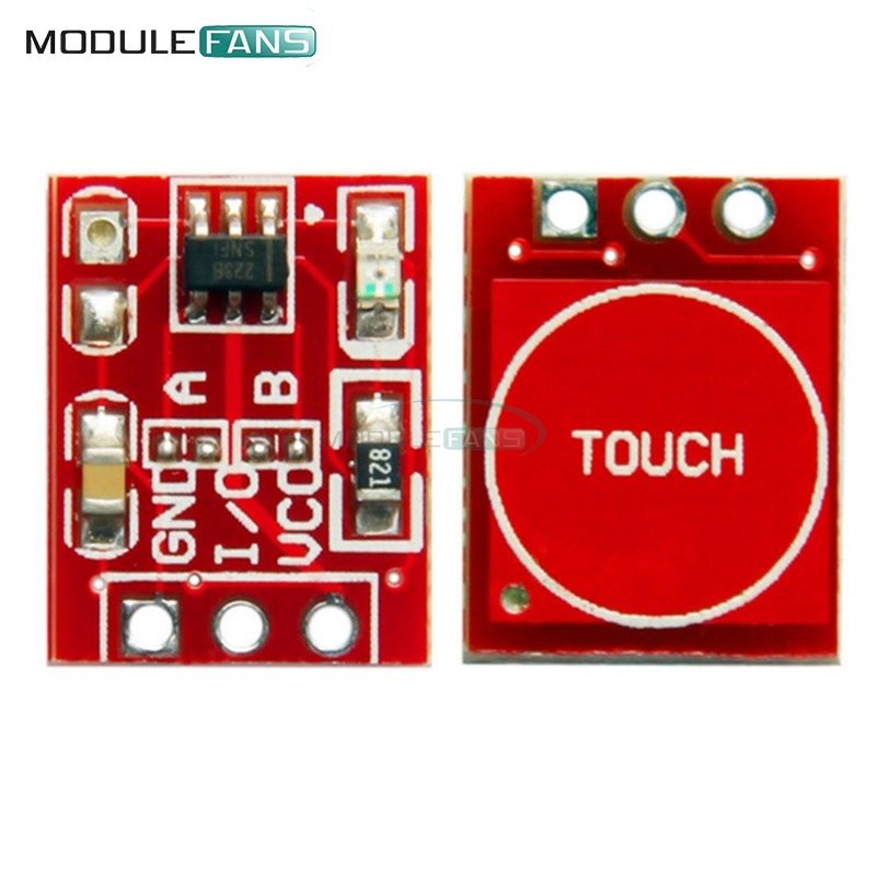 Diodes Active Components Inventive Blue Red Green Yellow Colorful Color Capacitive Touch Switch Button Module 2.7v To 6v Module Anti-jamming Is Strong Httm Series