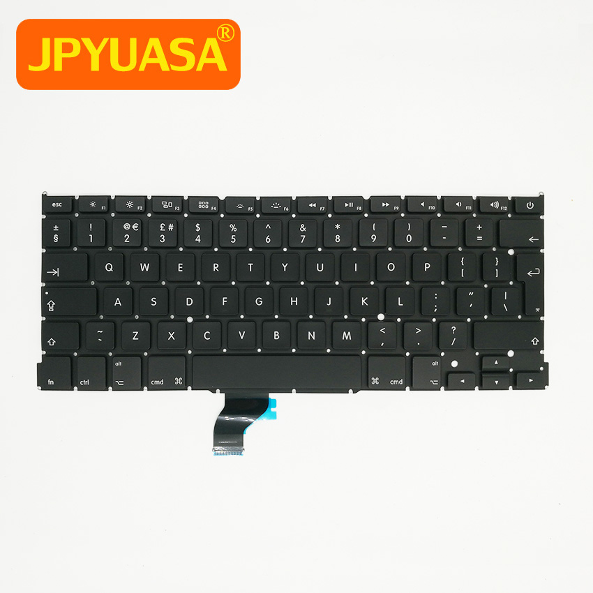 New For Apple Macbook Pro Retina 13 A1502 Keyboard Replacement UK Laptop Keyboard 2013 2014 2015