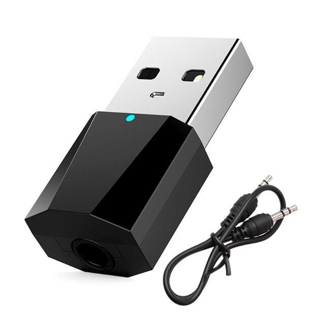 RECEPTOR ESTÉREO DE Audio Bluetooth inalámbrico USB de 3,5mm para auriculares de altavoz auxiliar de coche