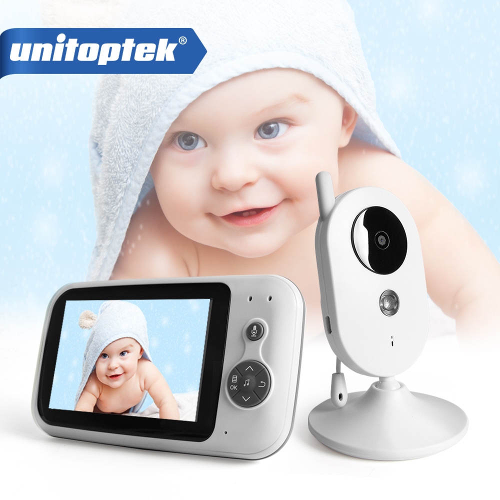 3 5 Inch LCD Wireless Video Audio Baby Monitor Music Infant Baby Camera 600mAh Recharge Battery