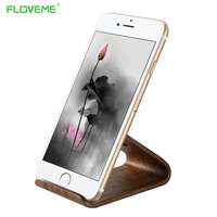 FLOVEME Universal Holder Stand For IPhone 6 6Plus 7 7Plus Lightweight Wooden Phone Holder For Samsung