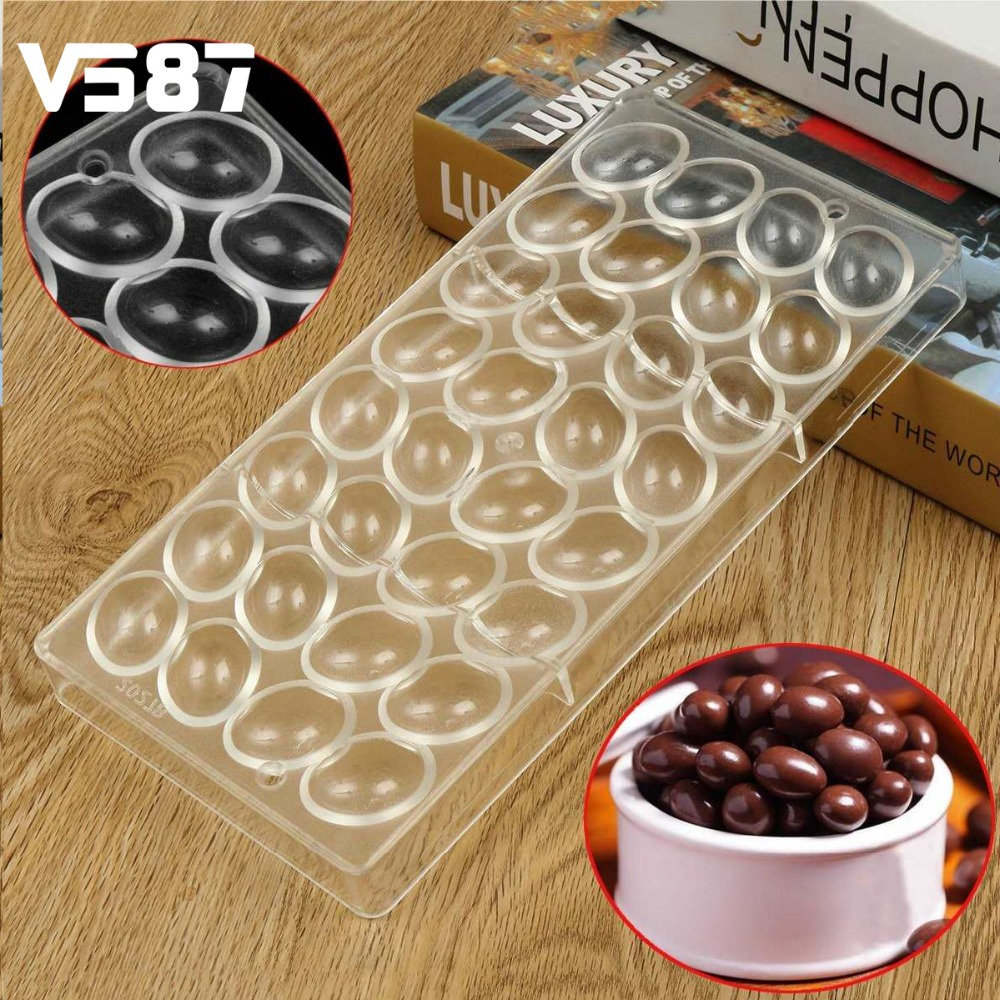 Polycarbonate Chocolate Mould Plastic Hard E-gg <font><b>Thread</b></font> <font><b>Shape</b></font> 3D Food Grade Clear Kitchen Baking Tools