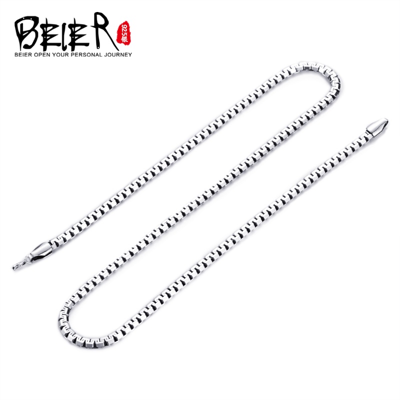Beier 100% 925 silver sterling necklaces pendants trendy fine jewelry chains necklace for women/men BR925XL094
