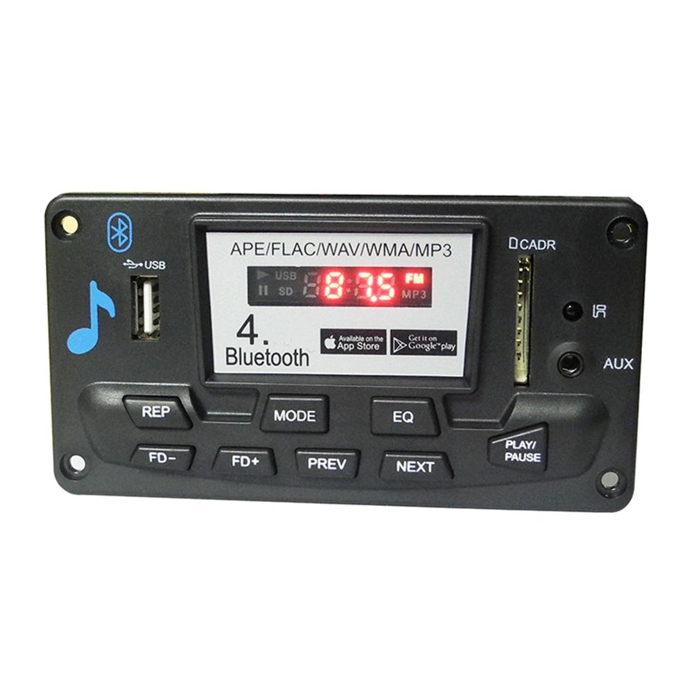 FM Radio MP3 Decoder Board Module Aux Digital Car Interior Wireless Accessories WAV WMA LCD Bluetooth 4.0 Audio Receiver