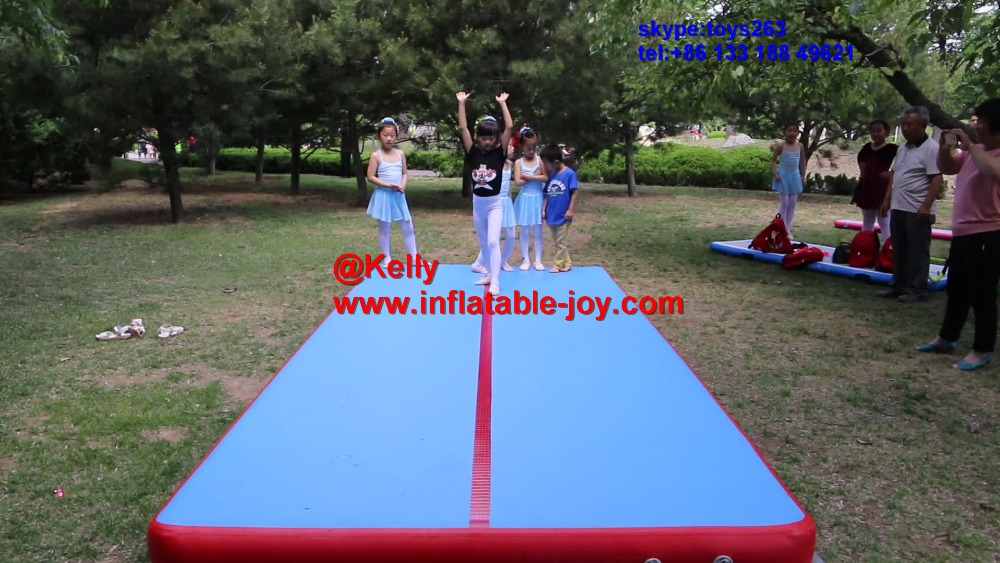 Cheap free door shipping DWF inflatable air track for sale, inflatable air tumble track