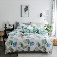 Tropical green plants Bedding Sets Neo Boho Style Green Plants Banana leaves Leaves Tropical Duvet Cover King Queen Twin Size