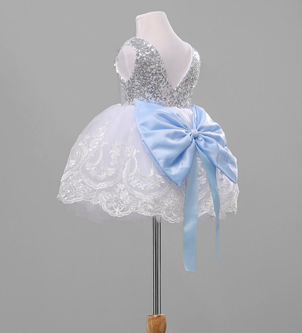 2018 новая рождественская детская одежда для девочек очаровательная вечернее торжественное платье блёстки цветок кружево платье с бантом