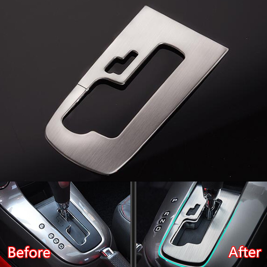 YAQUICKA Stainless Steel Car Automatic Gear Shift Panel Frame Car-Covers Trim Styling Sticker For Chevrolet Cruze 2015 LHD for mazda cx 5 cx5 2017 2018 2nd gen lhd auto at gear panel stainless steel decoration car covers car stickers car styling