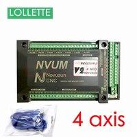 NVUM V2 4 Axis CNC Controller MACH3 USB Interface Board Card 300KHz for Stepper Motor