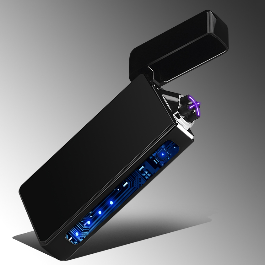 Double Arc Induction Lighter Plasma Usb Changing Windproof