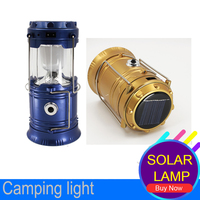 Led Hunting Rechargeable Camping Light LED Flashlights 6LEDs Tent Hanging Lamp Led Collapsible Flashlights Portable Solar