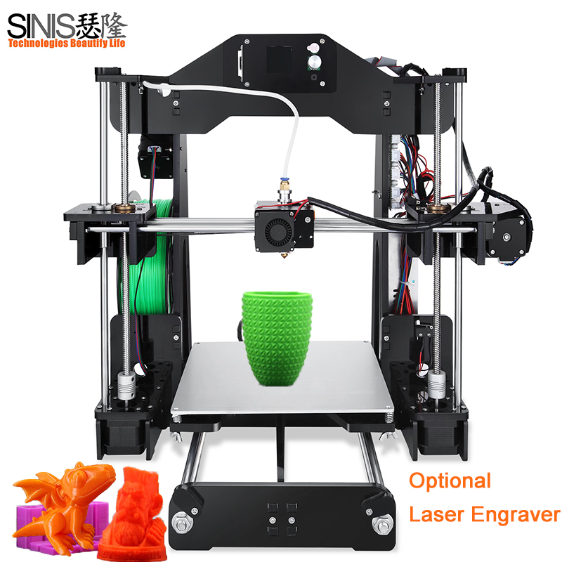 3D Printer Sinis Tech Z1 Optional Laser Engraving Assembly DIY 3D Printer Kit With Auto Sensor 1 roll Filament+SD Card+Filament все цены